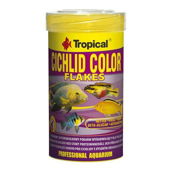 TROPICAL CICHLID COLOR FLAKES